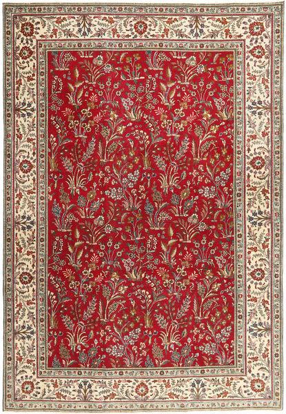 Tabriz Patina Matto 243X343 Itämainen Käsinsolmittu Tummanpunainen/Tummanruskea (Villa, Persia/Iran)