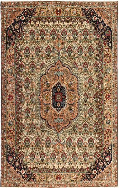 Tabriz Patina Matto 195X305 Itämainen Käsinsolmittu Ruskea/Vaaleanruskea (Villa, Persia/Iran)