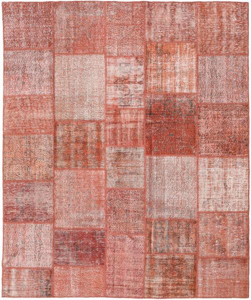 Patchwork Matto 251X300 Moderni Käsinsolmittu Tummanpunainen/Vaaleanpunainen Isot (Villa, Turkki)