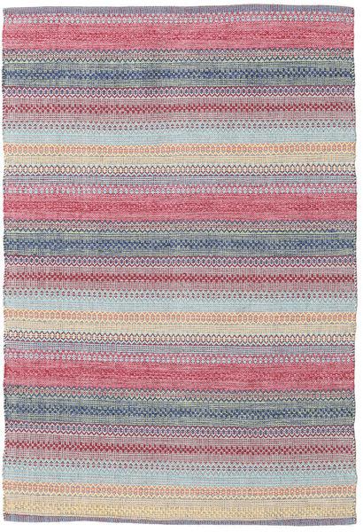 Wilma - Roosa Matto 120X180 Moderni Käsinkudottu Vaaleanharmaa/Vaaleanvioletti (Puuvilla, Intia)