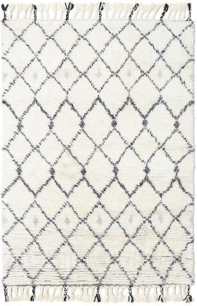 Sauda - Natural Harmaa Matto 120X180 Moderni Käsinsolmittu Beige/Valkoinen/Creme (Villa, Intia)
