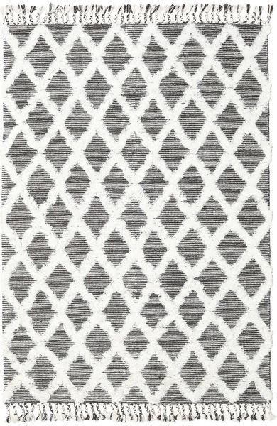 Inez - Tummanruskea/Valkoinen Matto 160X230 Moderni Käsinkudottu Beige/Vaaleanharmaa (Villa, Intia)