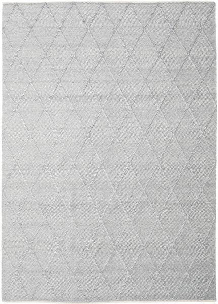 Svea - Hopeanharmaa Matto 300X400 Moderni Käsinkudottu Vaaleanharmaa/Valkoinen/Creme Isot (Villa, Intia)