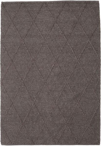 Svea - Tummanruskea Matto 160X230 Moderni Käsinkudottu Tummanharmaa/Ruskea/Tummanruskea (Villa, Intia)