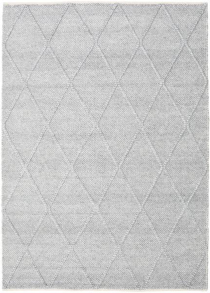 Svea - Hopeanharmaa Matto 160X230 Moderni Käsinkudottu Vaaleanharmaa/Valkoinen/Creme (Villa, Intia)