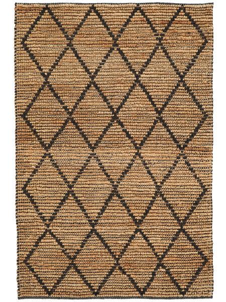 Ulkomatto Serena Jute - Natural/Musta Matto 120X180 Moderni Käsinkudottu Vaaleanharmaa/Beige (Juuttimatto Intia)
