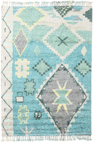 Odda - Turquoise Matto 200X300 Moderni Käsinsolmittu Beige/Siniturkoosi (Villa, Intia)