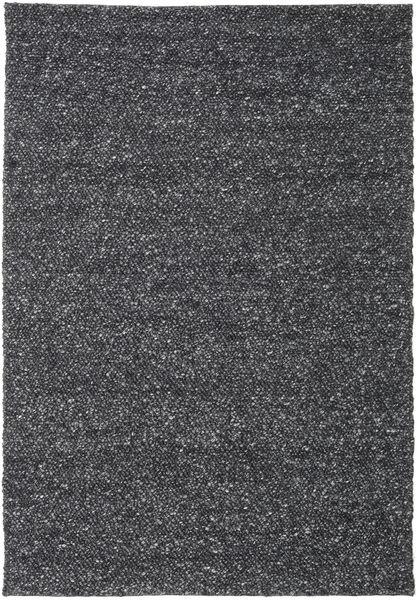 Bubbles - Melange Musta Matto 250X350 Moderni Tummanharmaa Isot (Villa, Intia)