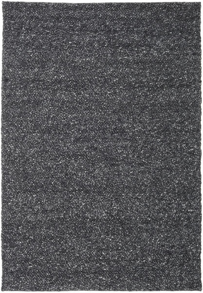 Bubbles - Melange Musta Matto 300X400 Moderni Tummanharmaa Isot (Villa, Intia)