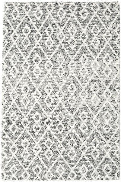 Hudson - Melange Musta Matto 200X300 Moderni Vaaleanharmaa/Beige (Villa, Intia)