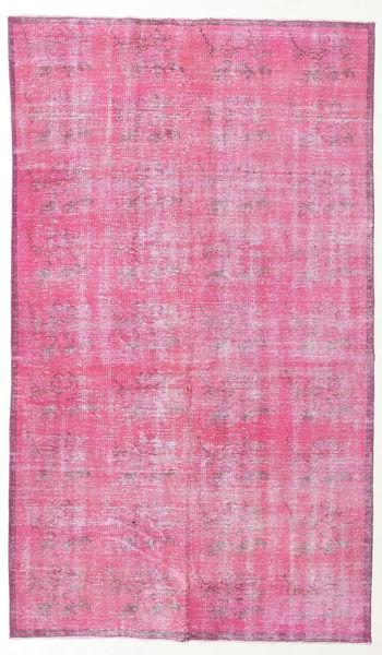 Colored Vintage Matto 148X255 Moderni Käsinsolmittu Vaaleanpunainen/Pinkki (Villa, Turkki)