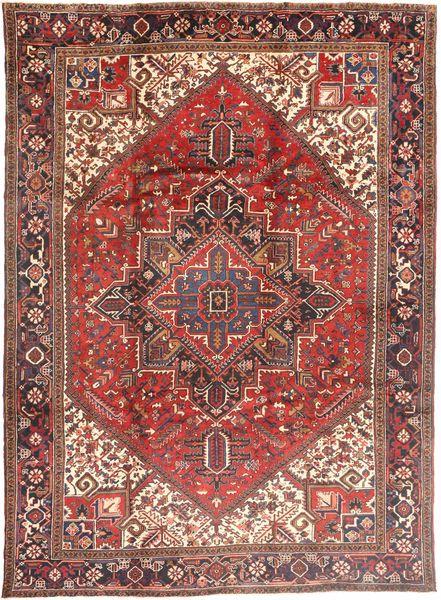 Heriz Matto 252X351 Itämainen Käsinsolmittu Tummanpunainen/Ruoste Isot (Villa, Persia/Iran)