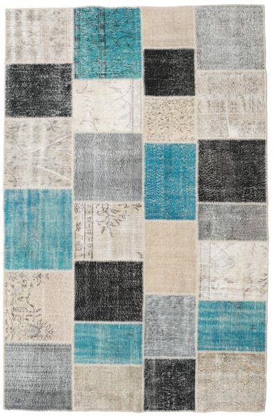 Patchwork Matto 196X304 Moderni Käsinsolmittu Vaaleanharmaa/Tummanharmaa (Villa, Turkki)