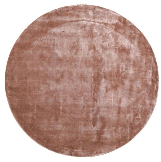 Broadway - Dusty Rose Matto Ø 200 Moderni Pyöreä Tummanpunainen/Vaaleanpunainen/Vaaleanruskea ( Intia)