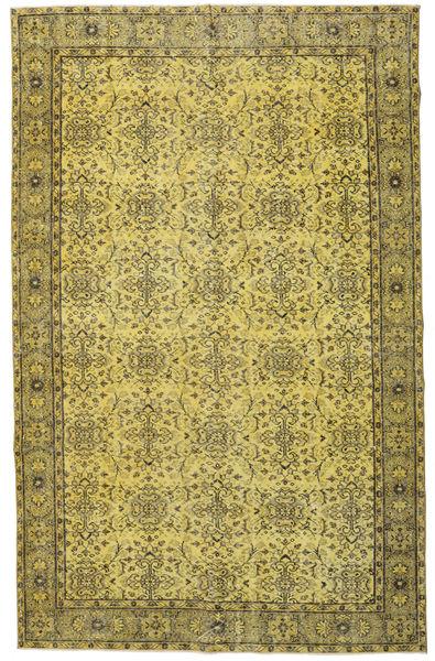 Colored Vintage Matto 187X295 Moderni Käsinsolmittu Oliivinvihreä/Keltainen (Villa, Turkki)