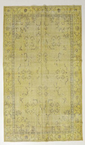 Colored Vintage Matto 167X286 Moderni Käsinsolmittu Vaaleanvihreä/Oliivinvihreä (Villa, Turkki)
