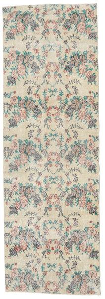Colored Vintage Matto 91X272 Moderni Käsinsolmittu Käytävämatto Vaaleanharmaa/Beige (Villa, Turkki)