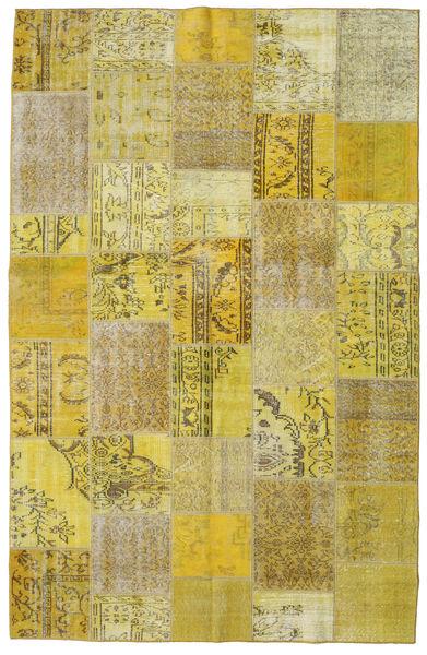 Patchwork Matto 192X300 Moderni Käsinsolmittu Oliivinvihreä/Keltainen (Villa, Turkki)