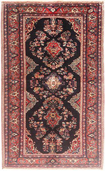 Hamadan Matto 128X205 Itämainen Käsinsolmittu Tummanpunainen/Vaaleanpunainen (Villa, Persia/Iran)