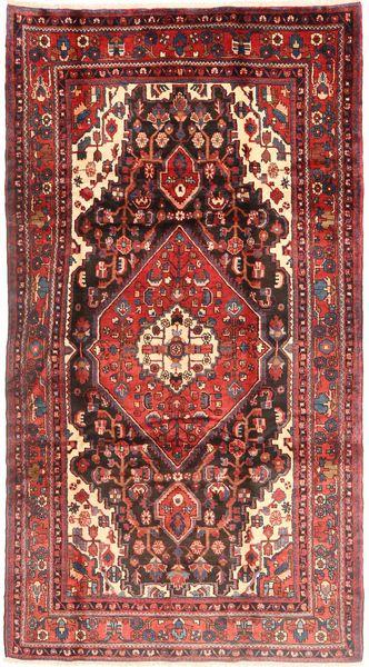 Nahavand Matto 168X312 Itämainen Käsinsolmittu Tummanpunainen (Villa, Persia/Iran)