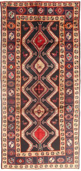 Koliai Matto 140X308 Itämainen Käsinsolmittu Käytävämatto Tummanpunainen/Tummanruskea (Villa, Persia/Iran)