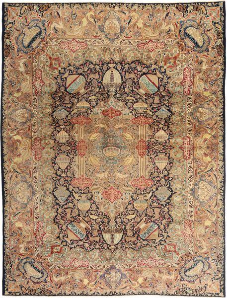 Kashmar Patina Matto 290X380 Itämainen Käsinsolmittu Vaaleanruskea/Ruskea Isot (Villa, Persia/Iran)