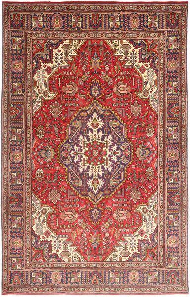 Tabriz Matto 195X308 Itämainen Käsinsolmittu Tummanpunainen/Ruoste (Villa, Persia/Iran)