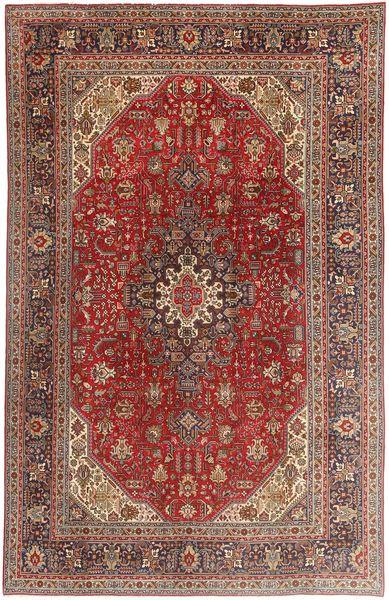 Tabriz Matto 197X307 Itämainen Käsinsolmittu Tummanpunainen/Ruskea (Villa, Persia/Iran)
