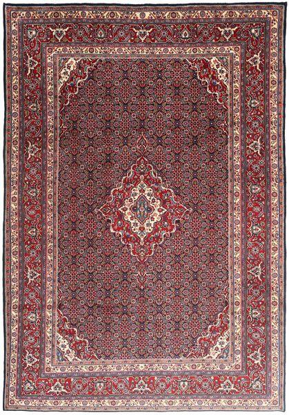 Moud Matto 215X308 Itämainen Käsinsolmittu Tummanpunainen/Tummanruskea (Villa/Silkki, Persia/Iran)