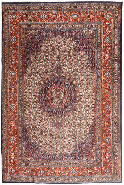 Moud Matto 208X315 Itämainen Käsinsolmittu Tummanpunainen/Vaaleanruskea (Villa/Silkki, Persia/Iran)