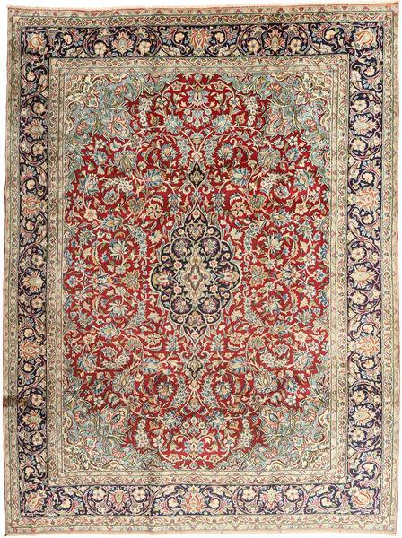 Kerman Matto 237X318 Itämainen Käsinsolmittu Vaaleanharmaa/Tummanruskea (Villa, Persia/Iran)