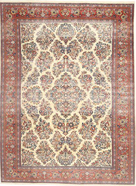 Sarough Patina Matto 200X280 Itämainen Käsinsolmittu Beige/Tummanruskea (Villa, Persia/Iran)