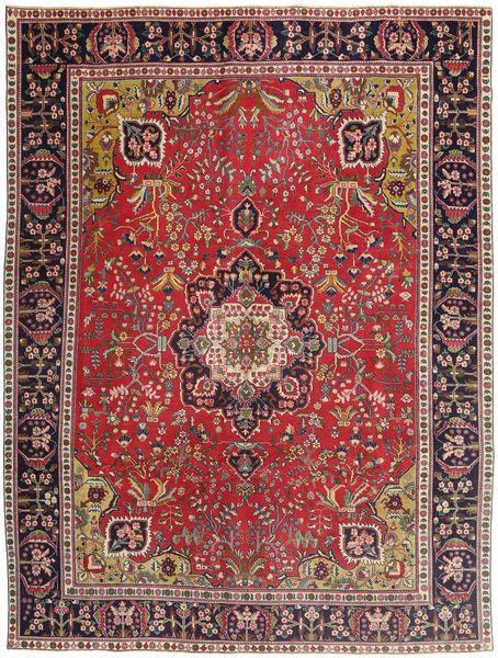 Tabriz Patina Matto 292X385 Itämainen Käsinsolmittu Tummanpunainen/Tummanruskea Isot (Villa, Persia/Iran)