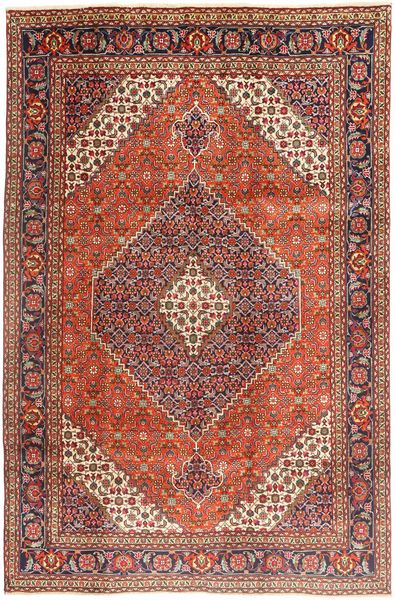 Tabriz Matto 202X305 Itämainen Käsinsolmittu Tummanpunainen/Tummanruskea (Villa, Persia/Iran)