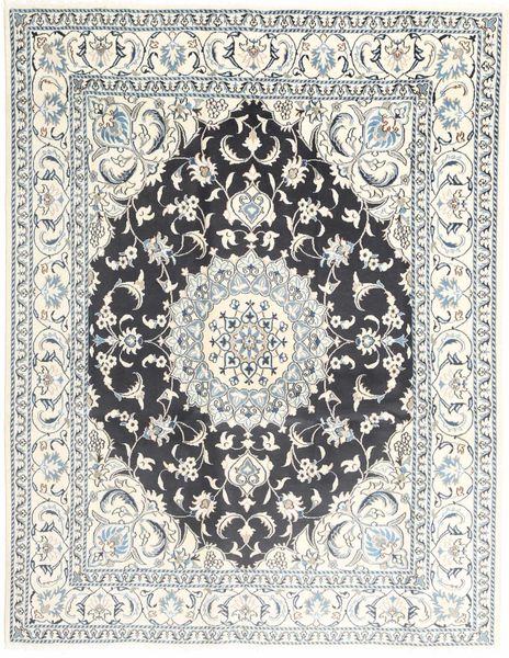 Nain Matto 195X251 Itämainen Käsinsolmittu Vaaleanharmaa/Beige/Tummanharmaa (Villa, Persia/Iran)