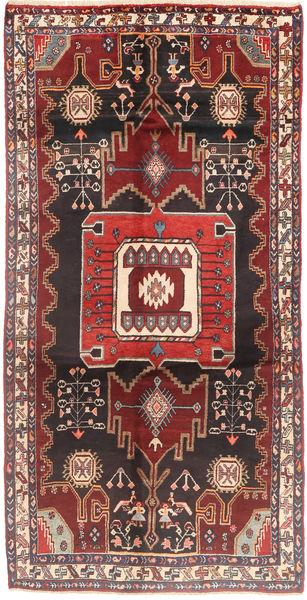 Koliai Matto 137X273 Itämainen Käsinsolmittu Käytävämatto Tummanpunainen/Tummanruskea (Villa, Persia/Iran)