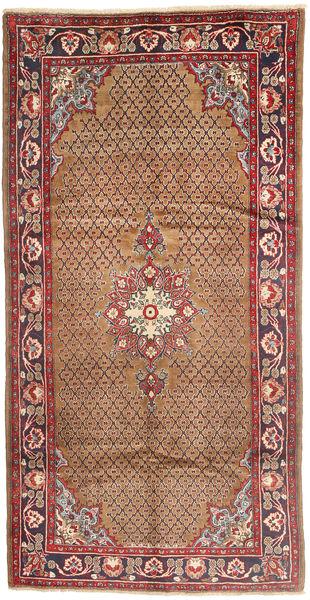 Koliai Matto 160X307 Itämainen Käsinsolmittu Käytävämatto Tummanpunainen/Ruskea (Villa, Persia/Iran)