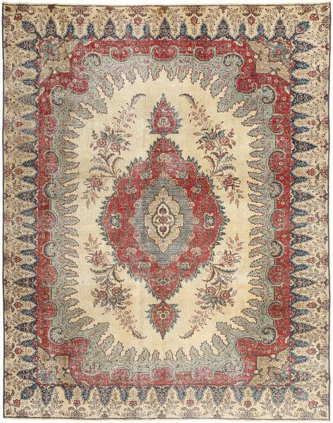 Tabriz Patina Matto 272X352 Itämainen Käsinsolmittu Vaaleanharmaa/Ruskea/Beige Isot (Villa, Persia/Iran)