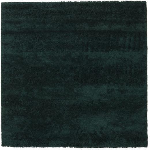 New York - Tummanvihreä Matto 250X250 Moderni Neliö Tumma Turkoosi Isot (Villa, Intia)