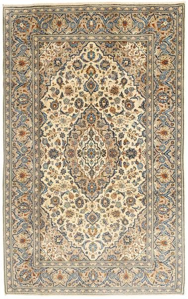 Keshan Matto 195X312 Itämainen Käsinsolmittu Tummanbeige/Vaaleanruskea (Villa, Persia/Iran)