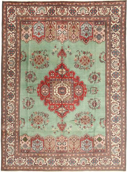 Tabriz Matto 298X410 Itämainen Käsinsolmittu Vaaleanvihreä/Vaaleanruskea Isot (Villa, Persia/Iran)
