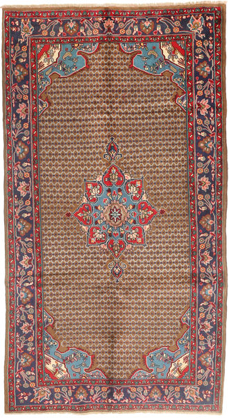 Koliai Matto 115X292 Itämainen Käsinsolmittu Käytävämatto Tummanpunainen/Ruskea (Villa, Persia/Iran)