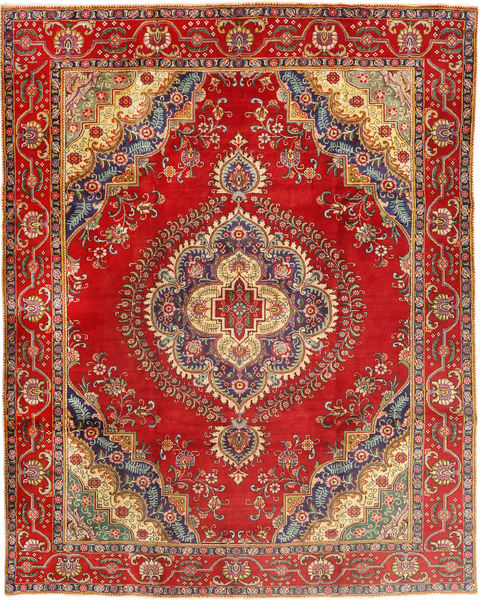 Tabriz Matto 300X378 Itämainen Käsinsolmittu Ruoste/Ruskea Isot (Villa, Persia/Iran)