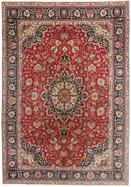 Tabriz Patina Matto 200X290 Itämainen Käsinsolmittu Tummanpunainen/Tummanruskea (Villa, Persia/Iran)