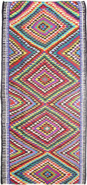 Kelim Matto 172X365 Itämainen Käsinkudottu Käytävämatto Vaaleanharmaa/Violetti (Villa, Persia/Iran)