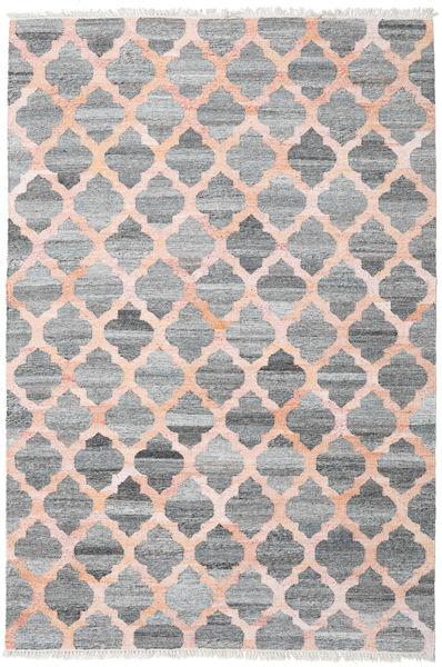 Ulkomatto Kathi - Harmaa/Coral Matto 200X300 Moderni Käsinkudottu Vaaleanharmaa/Tummanharmaa/Vaaleanpunainen ( Intia)