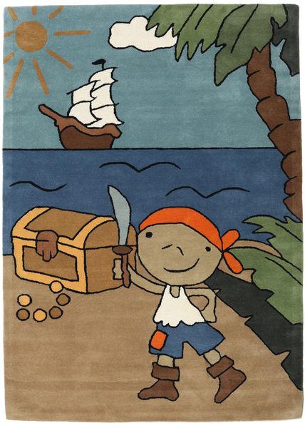 Pirate Handtufted Matto 170X240 Moderni Vaaleanruskea/Sininen (Villa, Intia)