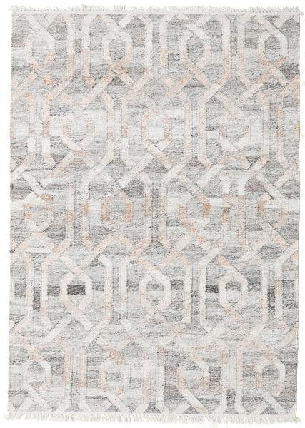 Ulkomatto Trinny - Ruskea/Nature Matto 140X200 Moderni Käsinkudottu Vaaleanharmaa ( Intia)