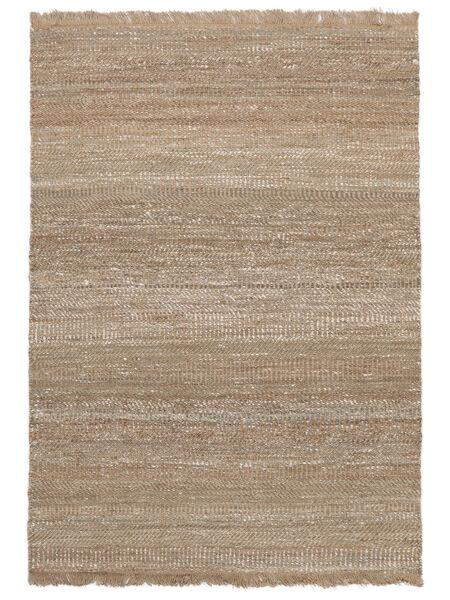 Ulkomatto Sahara Jute Matto 140X200 Moderni Käsinkudottu Vaaleanharmaa/Beige (Juuttimatto Intia)