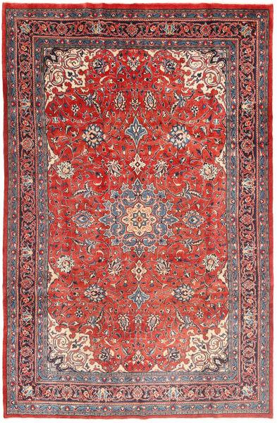 Mahal Matto 206X307 Itämainen Käsinsolmittu Ruoste/Tummanpunainen (Villa, Persia/Iran)